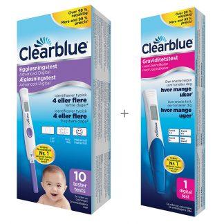 Clearblue sæt - Digitale ægløsningstest og graviditetstest